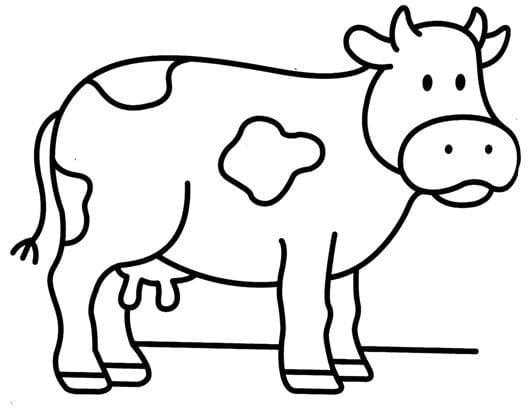 vaca-colorear