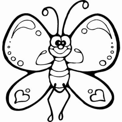 Mariposa-colorear